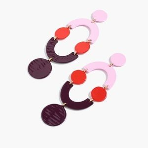 J.Crew (NWT) Pink Circlet Statement Earrings